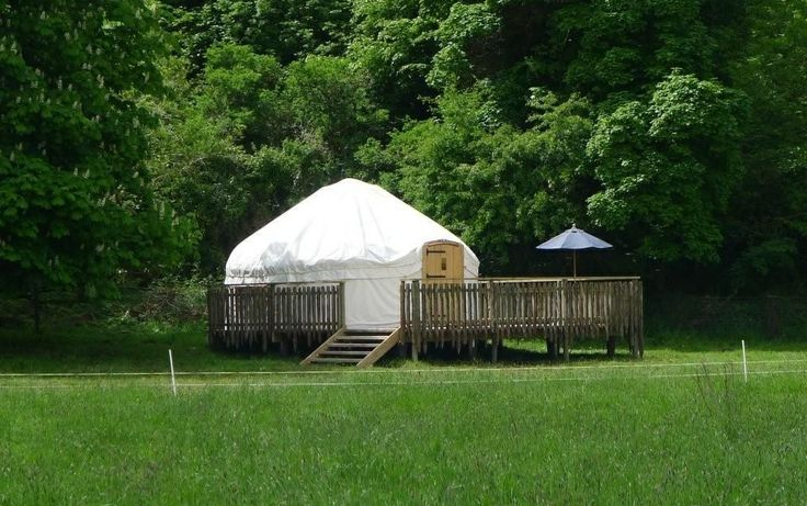 One of our yurts at our stunning Irish glamping site, Hare's Leap, Rock Farm Slane - for more details visit http://www.lpmbohemia.com/boutique-camping/hares-leap-campsite/