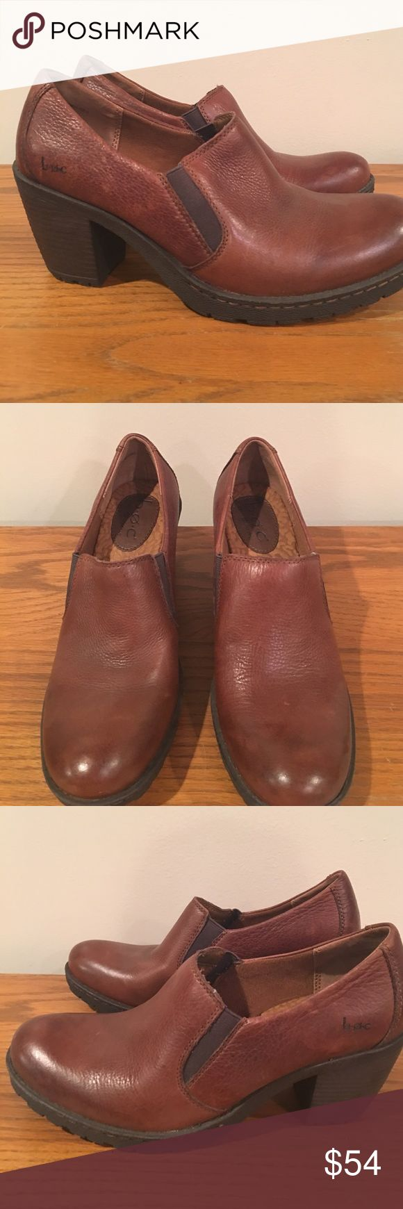 B.O.C Born Concepts brown leather ankle boots 🦉 B.O.C Born Concepts brown leather ankle boot shoes NWOB minor scuffing on right back heel of boot see pic. Never worn found in storage b.o.c. Shoes Ankle Boots & Booties