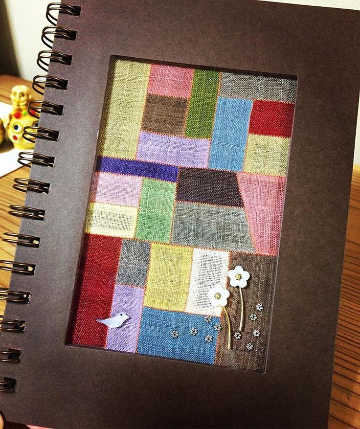 #조각보#공책 表紙を好きに飾るノート