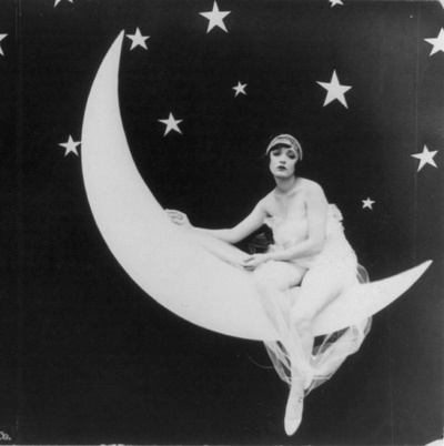 .: Vintage Moon, 1920, Moon, Moon Photo, Paper Moon, Papermoon, Vintage Photo, Moon Lady, The Moon