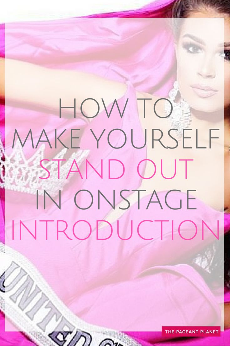Outside of pageant interview, your onstage introduction is the best way to connect with the judges. The Introduction varies slightly from system to system, but you are simply giving the judges a second glimpse at your poise, articulation, and confidence. Click to read more & learn how to stand out in your next pageant.