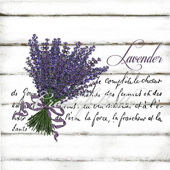 Vintage Lavender Large A4 Instant Digital Download by CreatifBelle