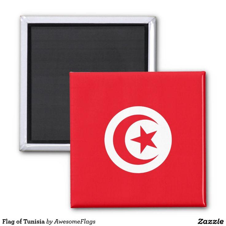 Flag of Tunisia Square Magnet