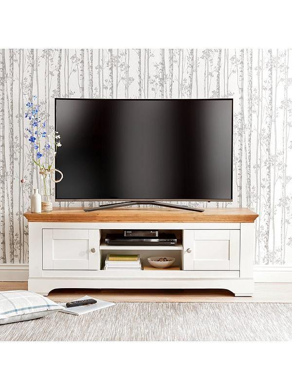 Ideal Home Wiltshire 2 Door TV Unit Fits TV Up To 60 Inch