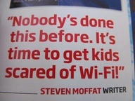 Steven Moffat on the Doctor Who opening episode on March 30th, 2013. #MOFFAT!!!