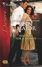 MISTRESS FOR A MONTH by ANN MAJOR: Amelia Weatherbee had inherited his family's chateau, and Remy de Fournier vowed he'd buy it back…at any cost.  But Amelia's price was high. She wanted the man from the tabloids, the celebrity lover, for one month. And Remy was only too happy to oblige. When their thirty days of passion ended, would he get more than he ever bargained for? #AnnMajor #AnnMajorClassics #love #romance #passion #contemporary #contemporaryromance #read #reading #novel #book…