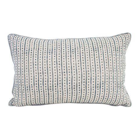 hakuro linen cushion | indian teal | Walter G from Salt Living  #walterg #saltliving