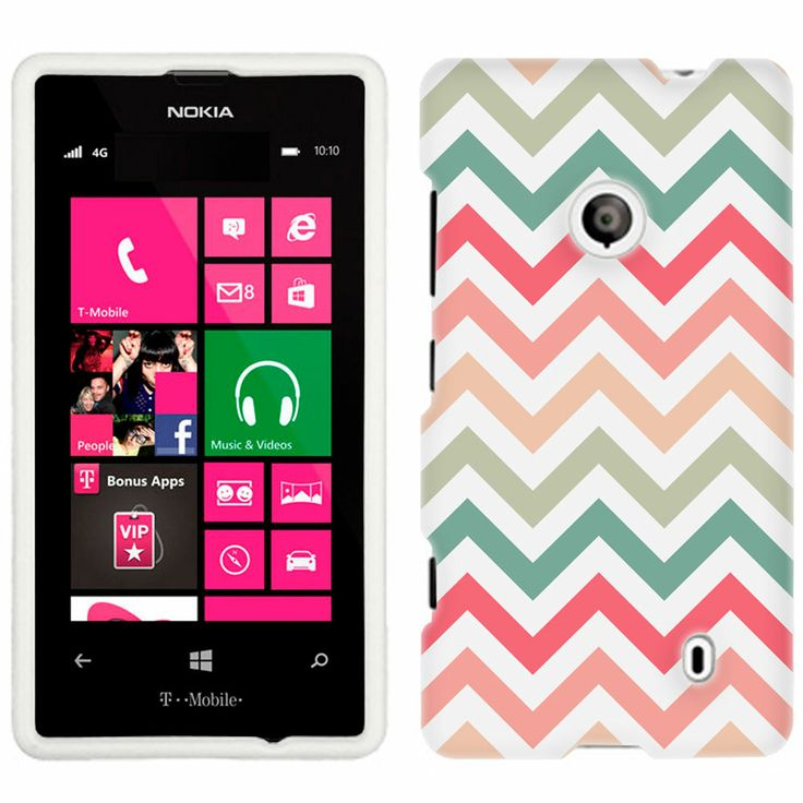 Nokia Lumia 521 Chevron Peach Pink Green Red Pattern Phone Case Cover $8.90