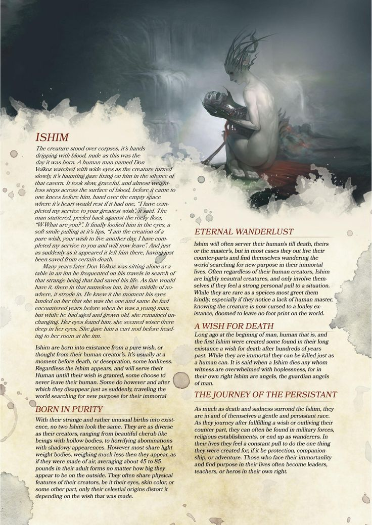 "DnD 5e Homebrew — ""Compendium of Angels"" excerpt part 3: Ishim Race..."