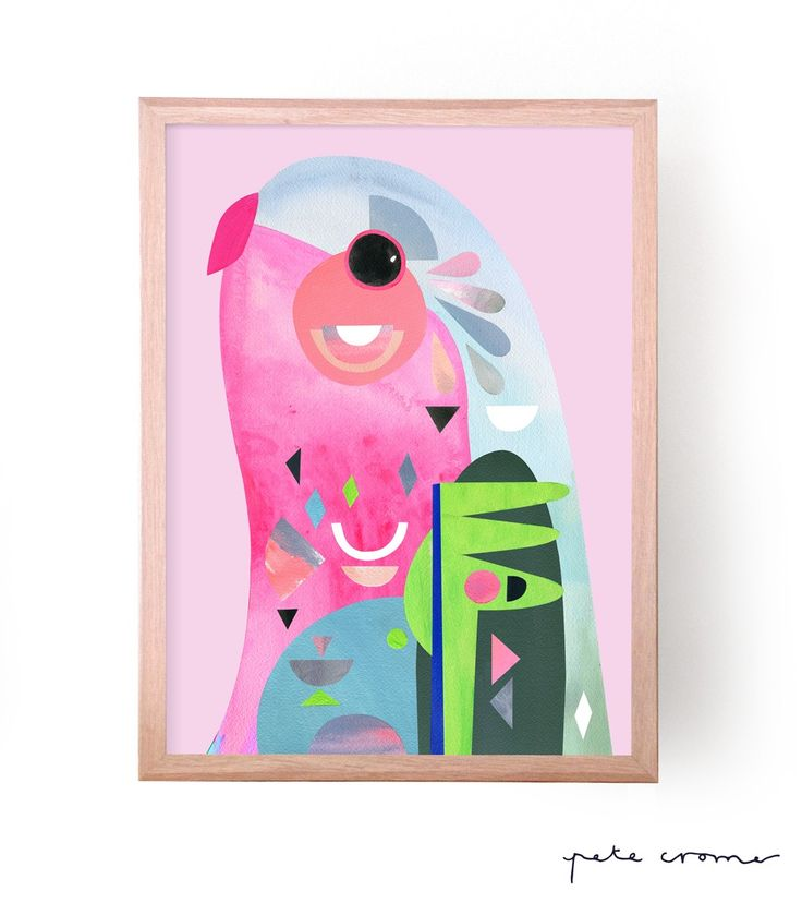 """This is a fine art print from the original """"Princess Parrot"""" Artwork by Pete Cromer. Available in the following sizes and editions ------..."""