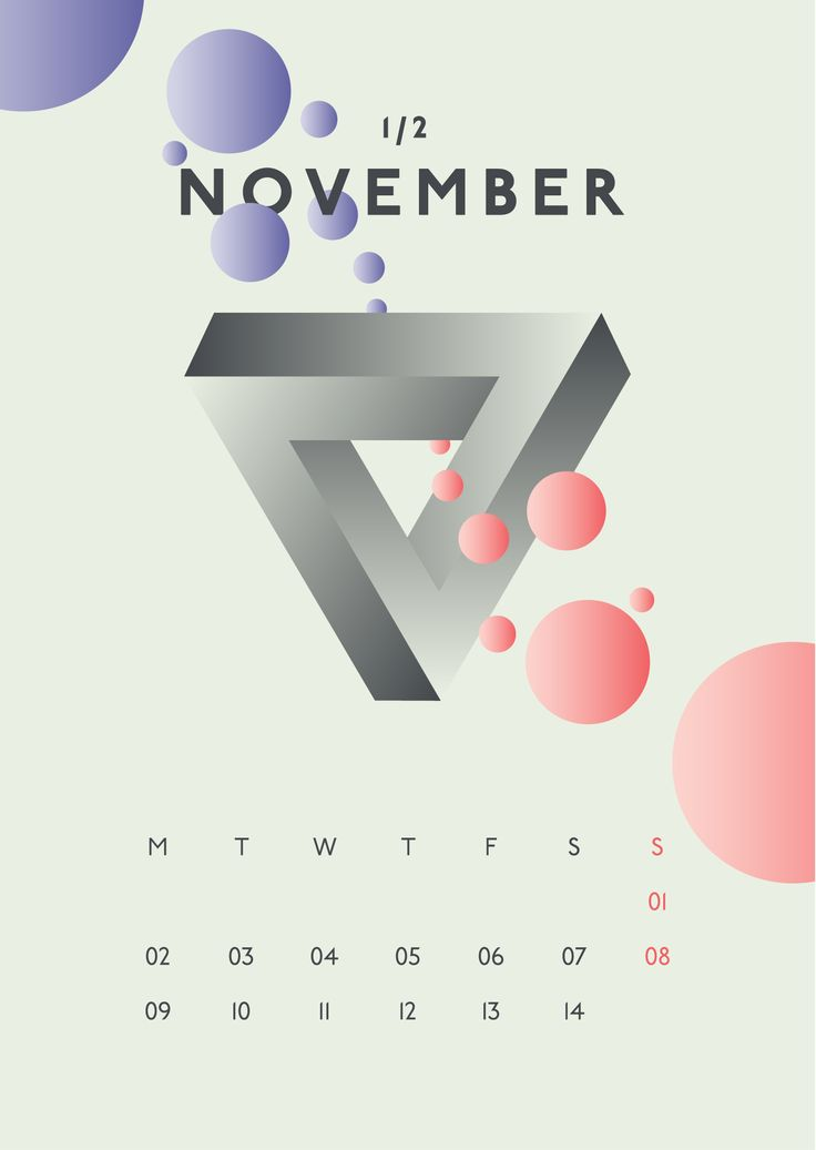 Calendar Design and Abstract Illustration