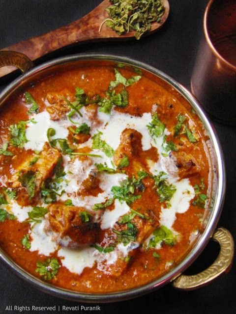 Authentic Butter Chicken. A very famous North Indian chicken dish that can be eaten with flat bread and rice.