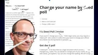 http://www.deedpoll.ltd.uk If you wish to change your name after marriage by deed poll. Change Your Name After Marriage By Deed Poll. Step by step on changing your name after you have been married https://www.facebook.com/pages/Change-your-name-by-deed-poll/1617252885211036
