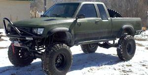 green truck exterior scratch guard