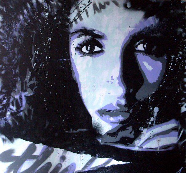 ANTOINE STEVENS 2009 #penelopecruz #antoinestevens #streetart #pochoir #stencil #paintings #art #artist #aerosol #spraypaint #canvas #toile #portrait