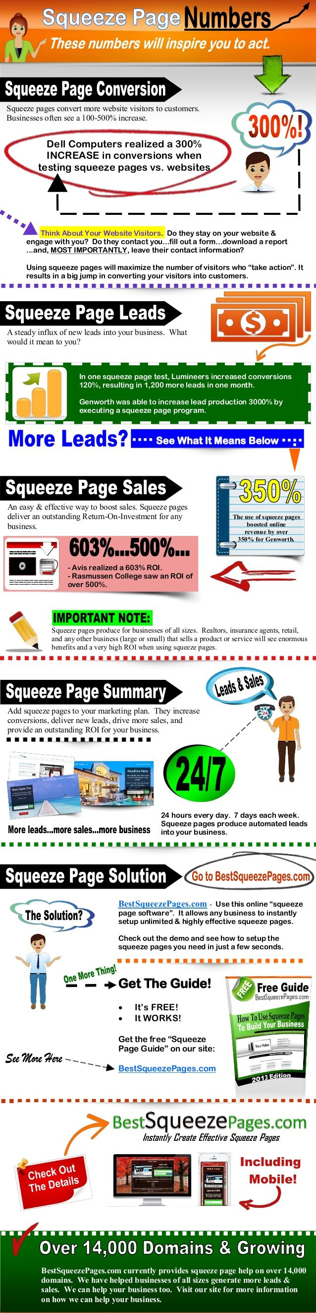 Squeeze Page InfoGraphic from: http://bestsqueezepages.com/squeeze-page-infographic.html #squeezepageinfographic