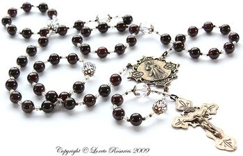 Divine Mercy Rosary in bronze - Loreto Rosaries, LLC