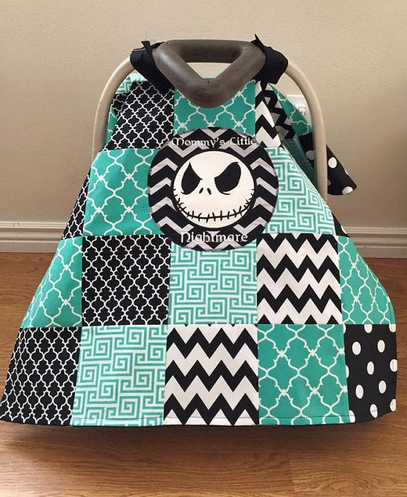 Nightmare Before Christmas Car Seat by SewSweetBabyDesigns on Etsy
