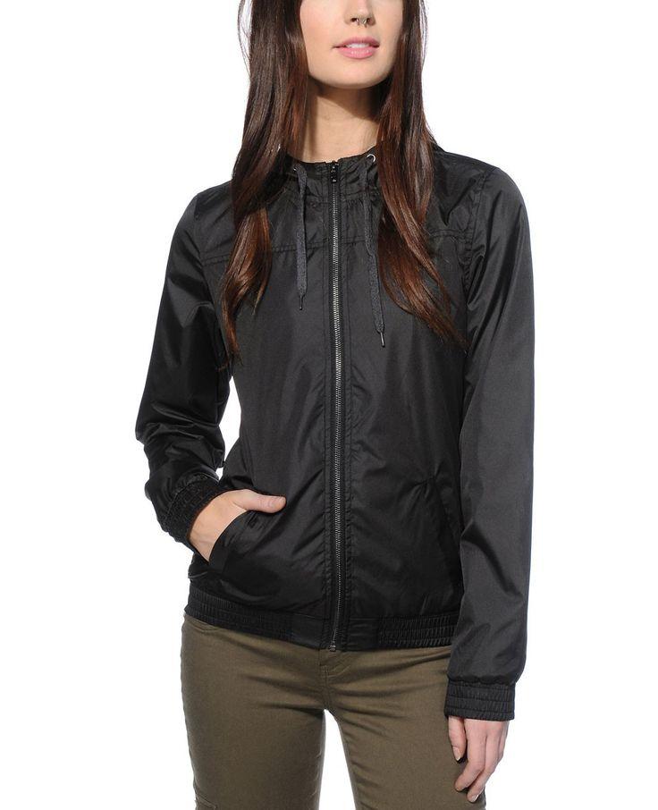 http://www.quickapparels.com/zipper-stylish-black-lined-women-windbreaker-jacket.html