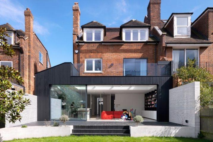 Extension contemporaine du0027une villa ancienne séparations maisons