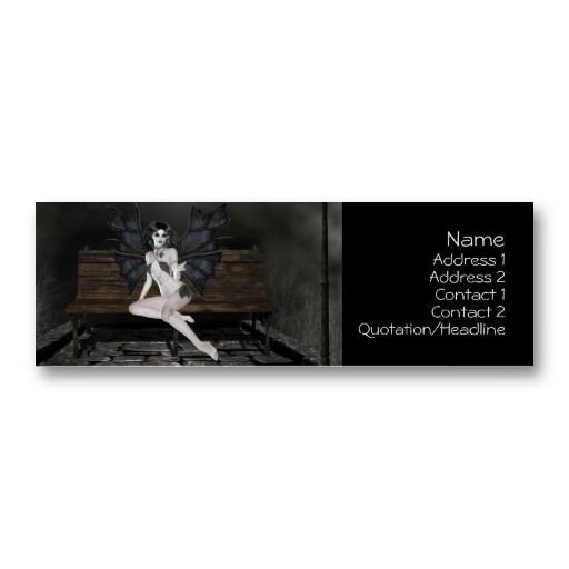 18 best bad business card designs images on pinterest card vampress waiting in the mist profile cards reheart Choice Image