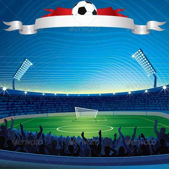 Soccer Stadium #GraphicRiver Background with Soccer Stadium. - vector illustration, only simply linear and radial gradients used - no blends, gradient mesh used - vector available CMYK colors for print - pack include version AI, CDR, EPS, JPG Keywords: 2014, abstract, brazil, building, celebration, champions, cup, evening, field, full, game, goal, goalpost, grandstand, group, hooligans, illumination, large, league, london, night, olympiad, people, playoff, professional, scores, spain…