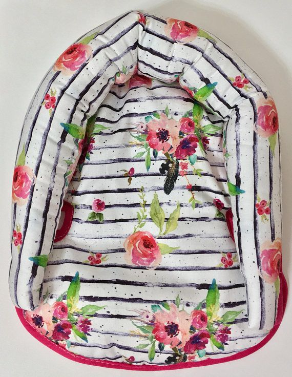 Boho Watercolor Floral Stripe Infant Head Support, Car Seat Head Support, Boho Head Support, Car Seat Accessories, Hot Pink Head Support Our infant head supports are the perfect little accessory for your newborns car seat! We no offer these little pillows a la carte so if you are not