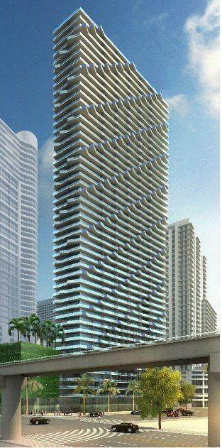 Residential tower - Arquitectonica - Miami, Florida