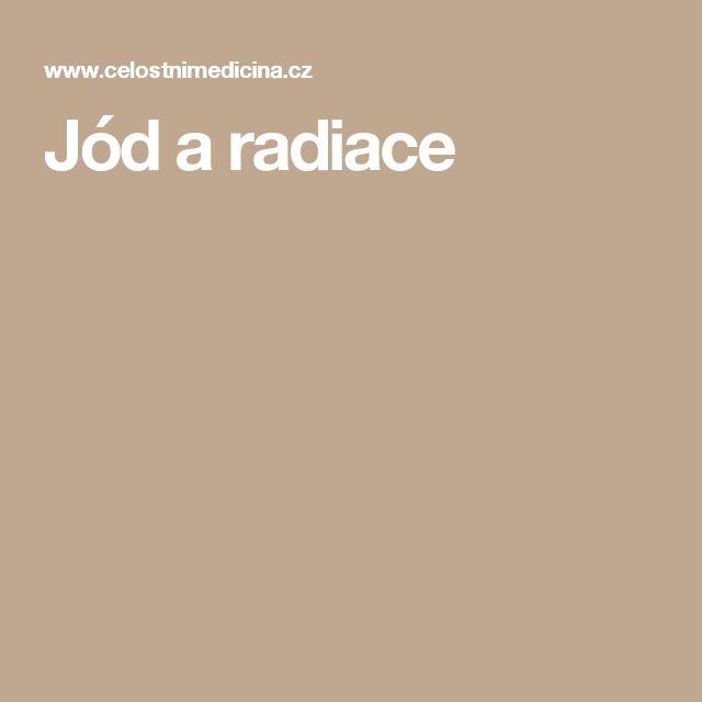 Jód a radiace