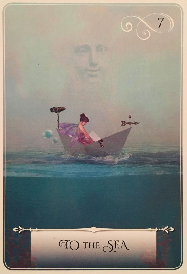 "Daily Angel Oracle Card: To The Sea, from the Wisdom Of The Oracle, by Colette Baron-Reid To The Sea Essential Meaning: ""Being in flow ~ Returning to Source ~ Recognizing how pieces fit toget…"