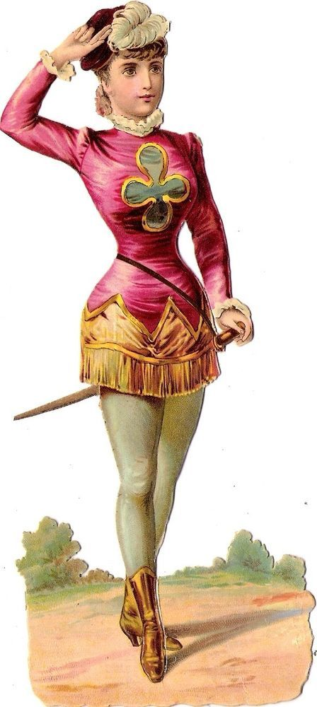 Oblaten Glanzbild scrap die cut chromo lady Dame femme  16,5 cm