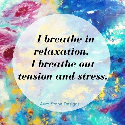 Affirmation: I breathe in relaxation. I breathe out tension and stress.  All Aura bracelets come with affirmations matched to the intent and metaphysical properties of the natural stones.