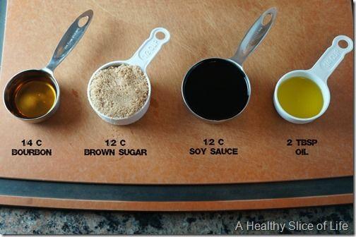brown sugar and bourbon salmon- marinade ingredients