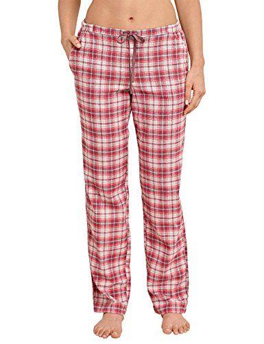 Schiesser Damen Schlafanzughose Mix/&Relax Webhose Lang