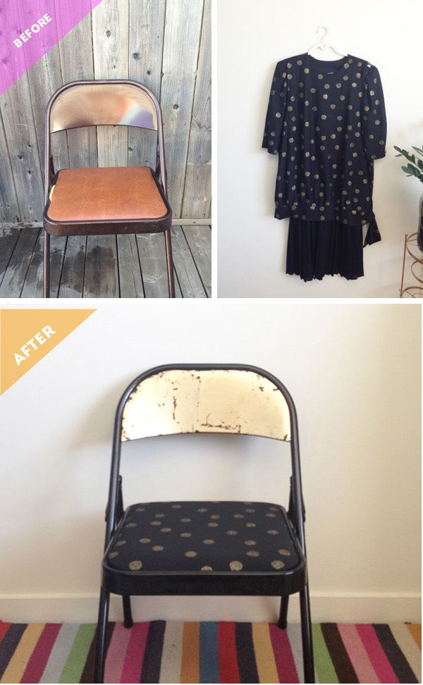 {BEFORE & AFTER: rags to riches, folding chair makeover} | The Sweet Escape