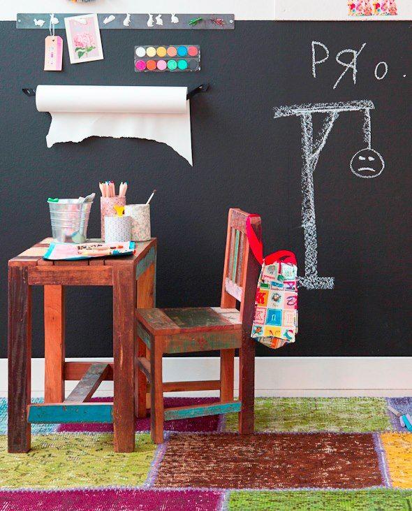 Mesa y silla de ni os en madera reciclada de teca for Decoracion low cost