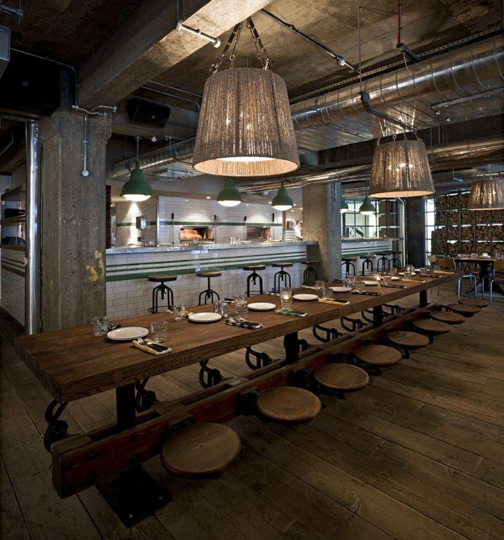 30 Cool Industrial Design Kitchens: 66 Best Images About Industrial Restaurant Design On
