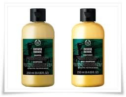 Banana Shampoo and Conditioner from The Body Shop    Love the smell!! and they use Community Traded banana puree from Mexico