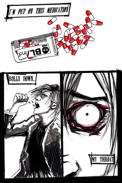MCRmy Art of the Week by Garry at http://inkbats.tumblr.com.   See the full post here: http://inkbats.tumblr.com/post/86259899894/back-to-another-level-hotter-than-hell
