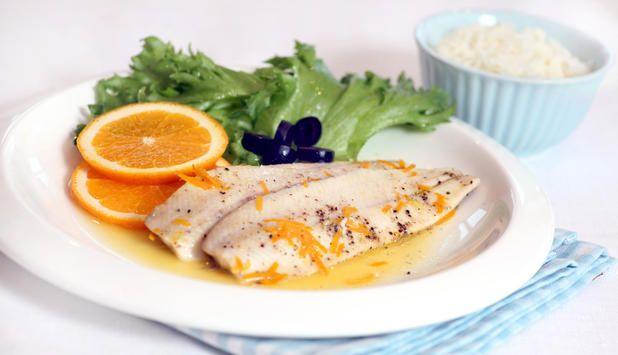 Ovnsbakt sild med den frisk smak av appelsin og rosmarin. #oppskrift #fisk #middagstips