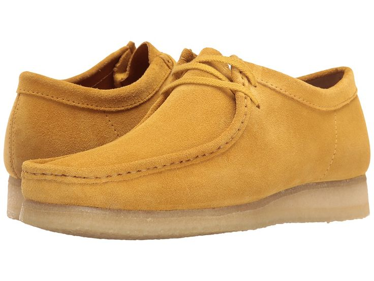 CLARKS CLARKS - WALLABEE (OCHRE SUEDE) MEN'S LACE UP CASUAL SHOES. #clarks #shoes #