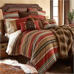Vibrant sourhwestern color stripes on this western bedding set perfectly blended southwestern navajo patterns and accents includes Western Comforter, Pillow Sham(s), Pillow, and co-ordinated bedskirt. (Twin includes pillow sham)