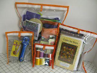 ! Wir Nähen Quilt: Wantobe Quilter Guest # 3 Joan mit ihrem orangefarbenen SIE froh, spezifiziert Sie haben IHNEN Lagerung Taschen