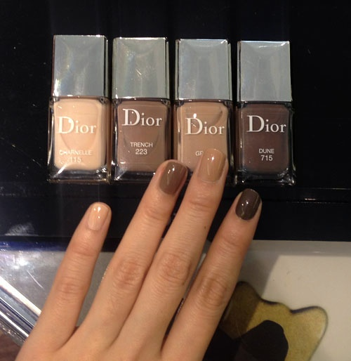 Dior\u0027s Four New Shades of Nudes L,R 115 Charnelle, 223 Trench, 413 Grege