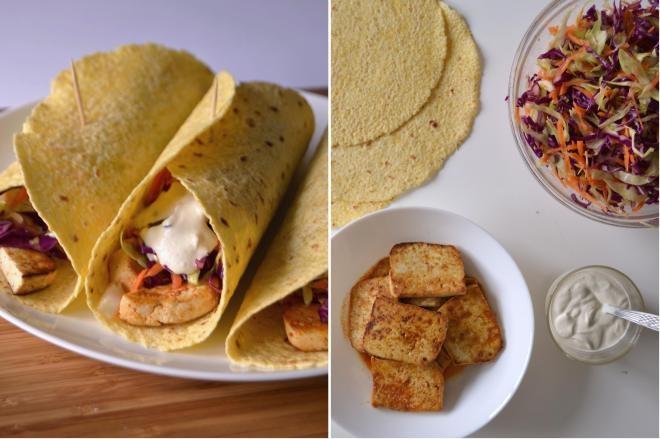Tofu Tacos (these seem similar to the amazing tofu tacos we used to get at Marination Station!)
