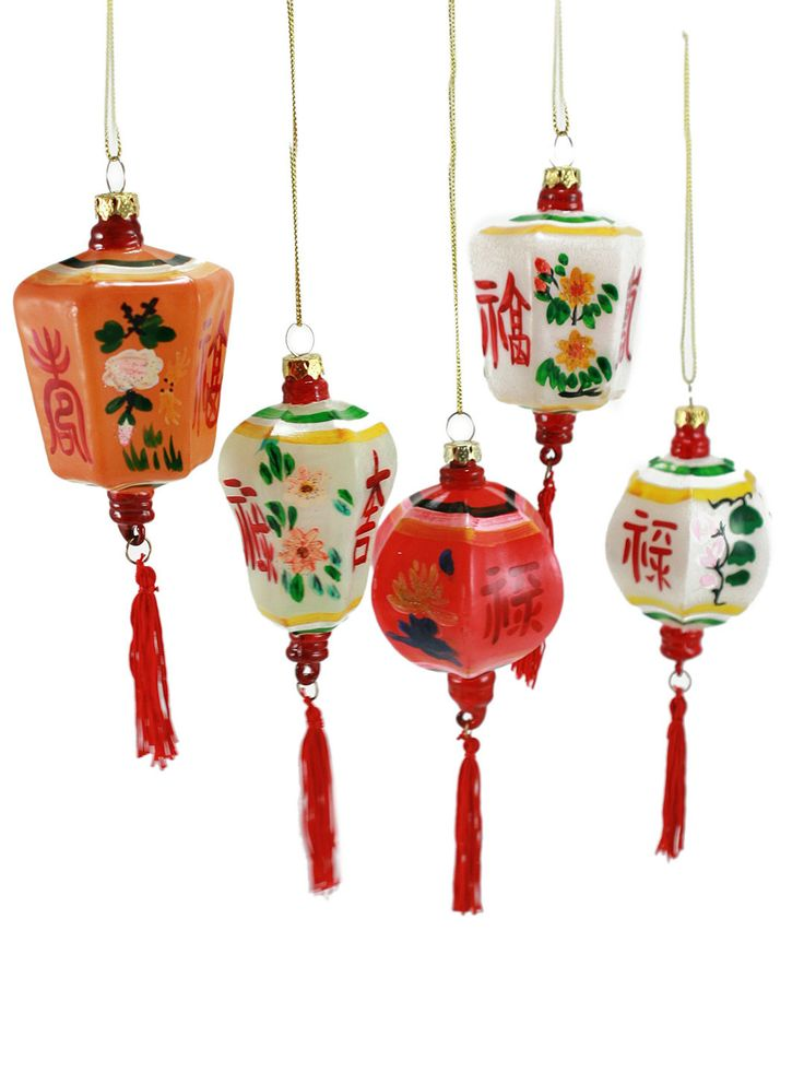 cody foster small chinese lantern ornaments  set of 5   39  gilt