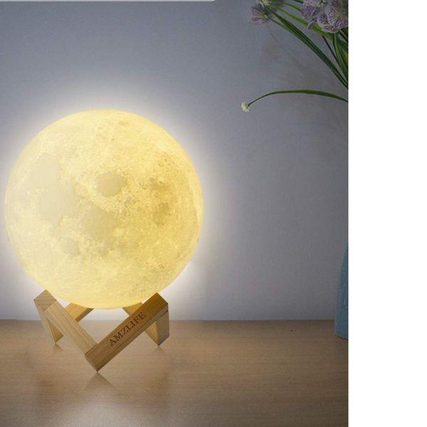 Moon Lamp Moon Night Light For Kids Gift Led 3d Printing Lunar Moon Light Night Light Led Desk Lighting Beautiful Decor