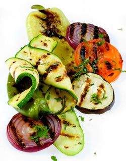 Grille Vegetables Recipes (including roasted Eggplant with tahini, garlic and lemon juice)