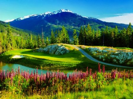 The beauty of green mountain mountains wallpaper id - Background pictures of nature for desktop ...
