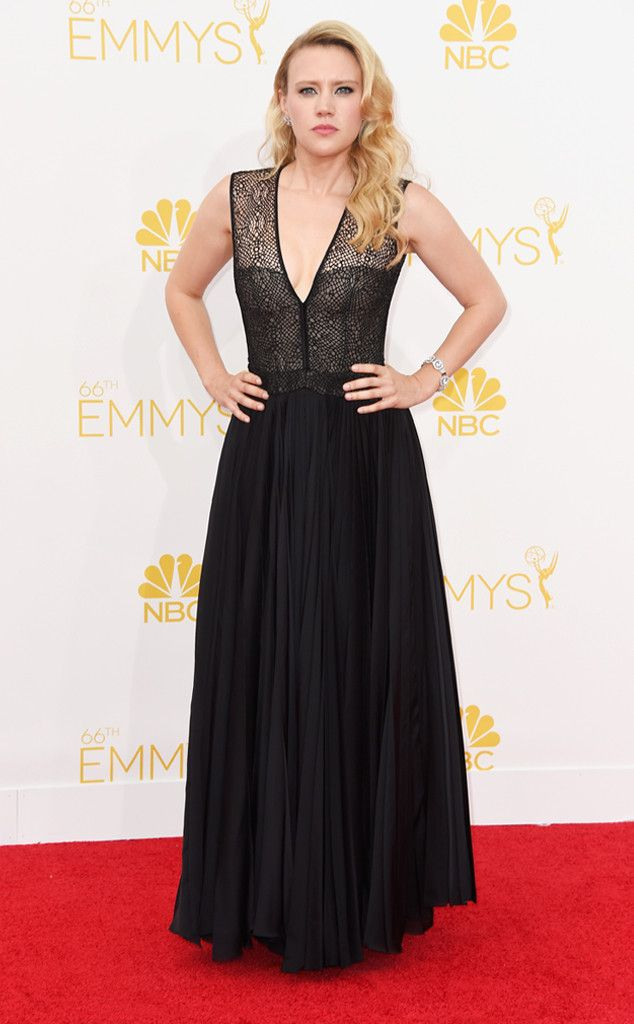 Kate McKinnon from 2014 Emmys: Red Carpet Arrivals ...Wow pretty, Great details to recreate. Imagine this with embellishments that fit your wedding theme. Change the color BUT keep the details. Ask your dressmaker for ideas to achieve that special look.